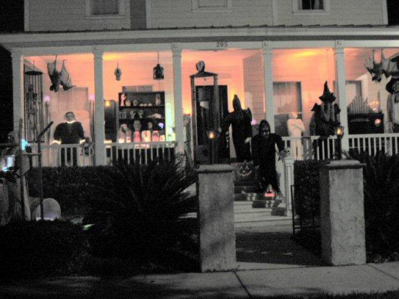 halloween house in celebration